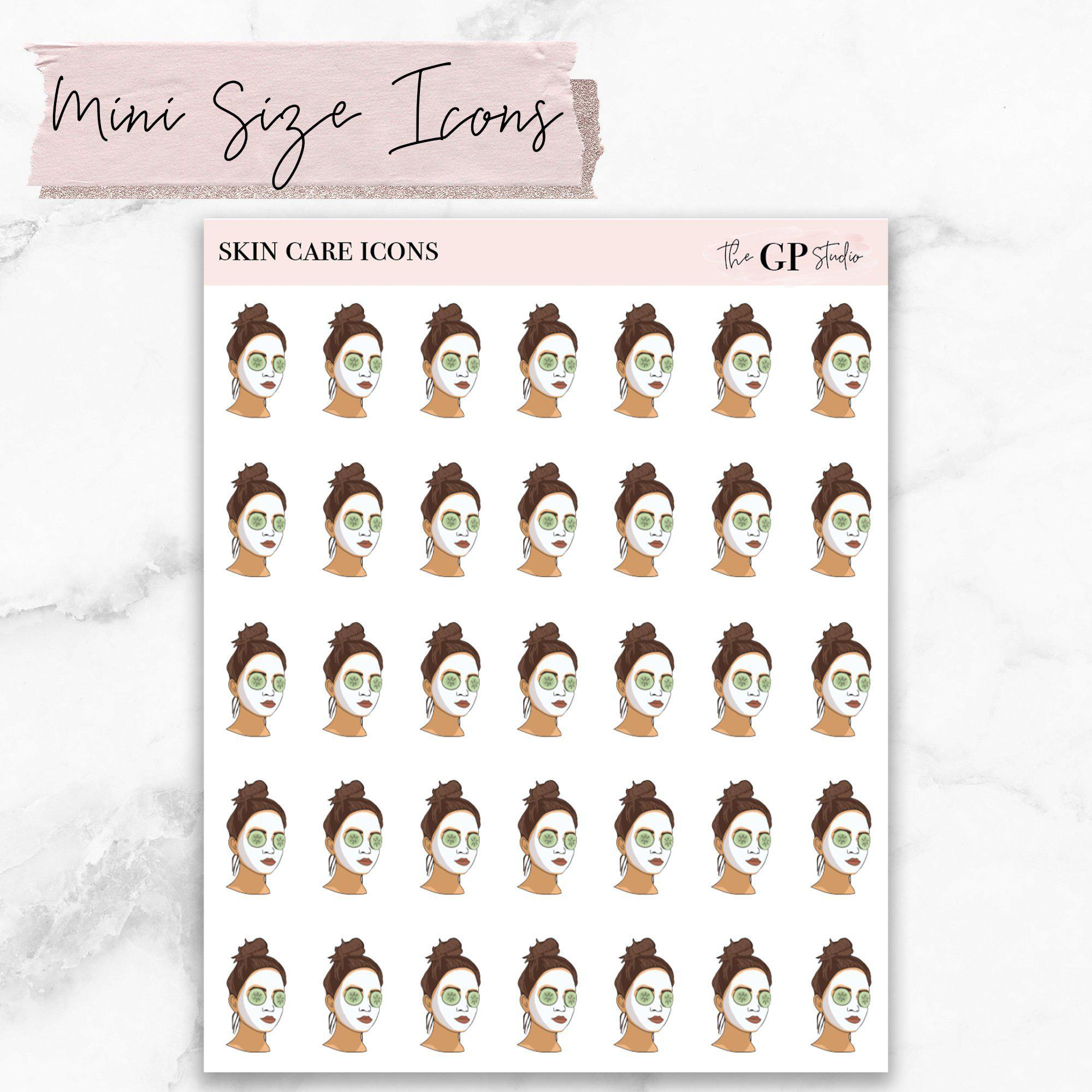 Mini FACE MASK GP Girl Planner Stickers Icons-The GP Studio