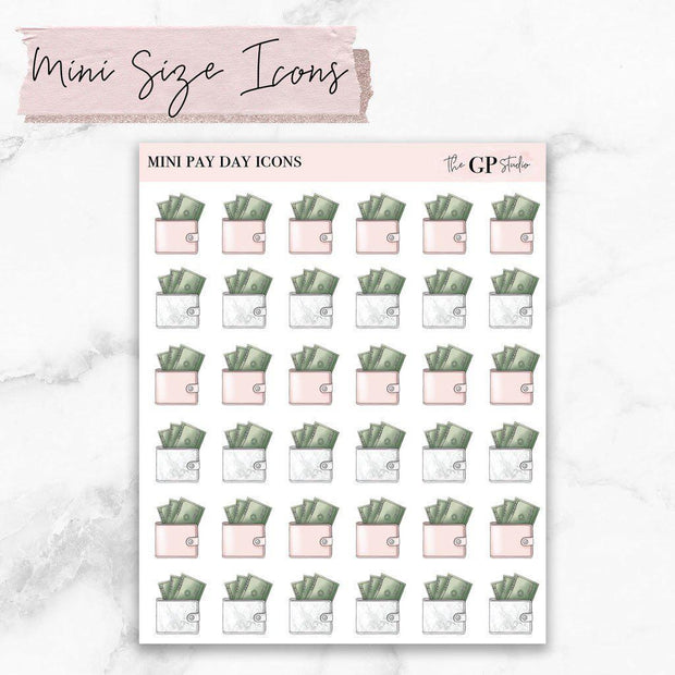 Mini PAY DAY Icons Stickers-The GP Studio