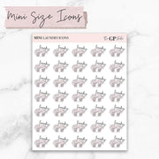 MINI SIZE LAUNDRY Icons Stickers-The GP Studio
