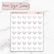 MINI SIZE PERIOD TRACKER Icons Stickers-The GP Studio