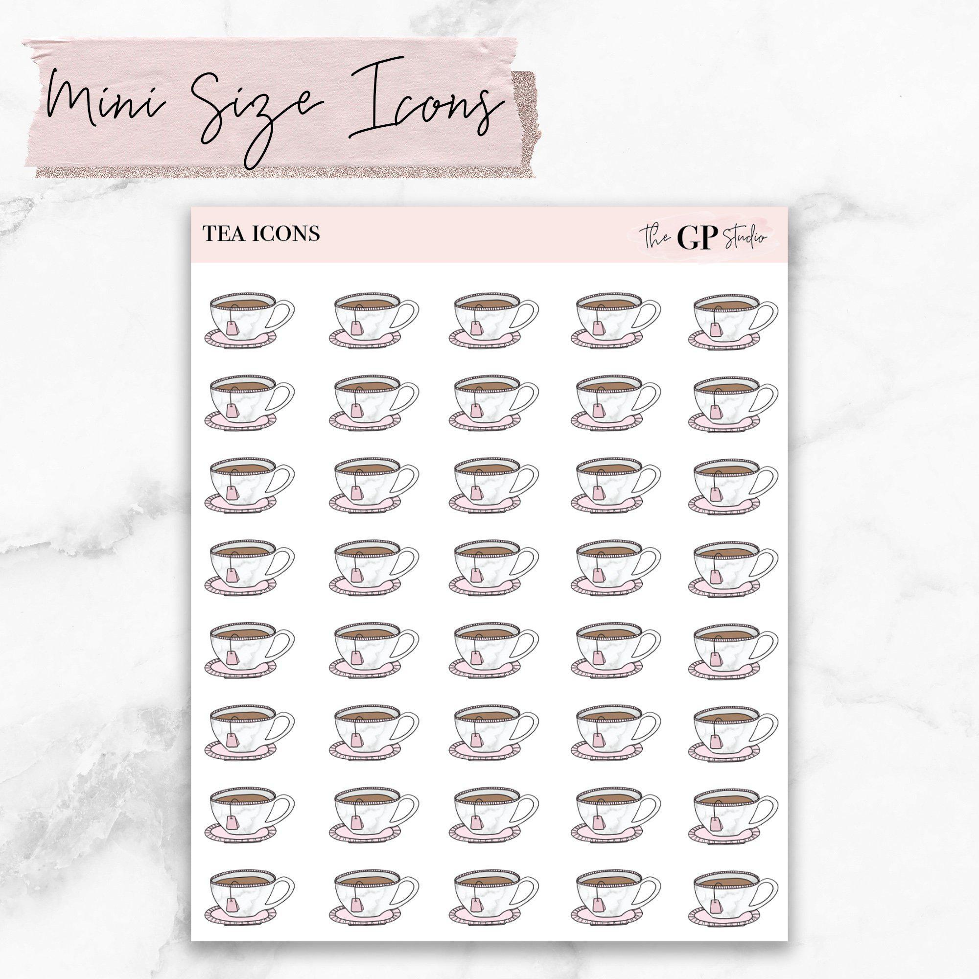 Mini TEA CUP Icons Stickers-The GP Studio