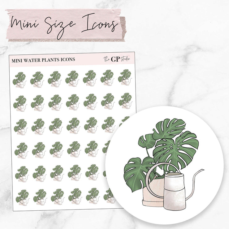 Mini WATER PLANTS Icons Stickers-The GP Studio