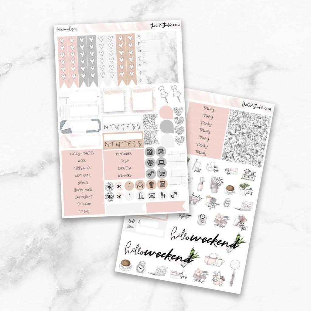 MINIMALISM Functional Planner Sticker Kit-The GP Studio