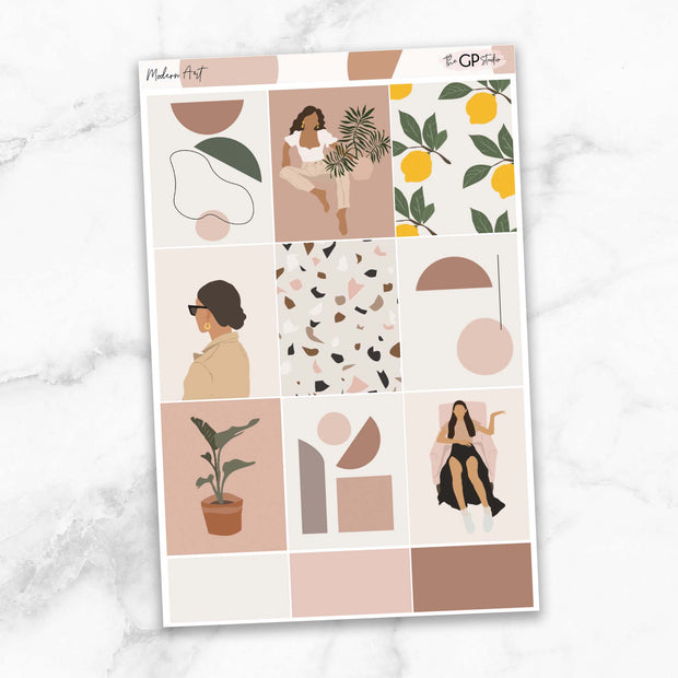 MODERN ART Full Boxes Planner Stickers-The GP Studio