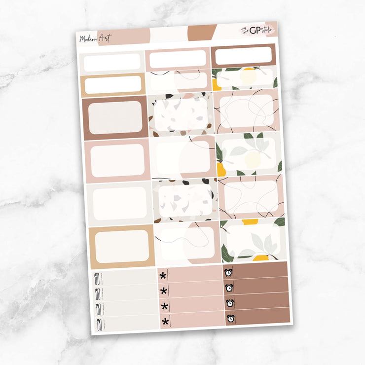 MODERN ART Planner Sticker Kit-The GP Studio