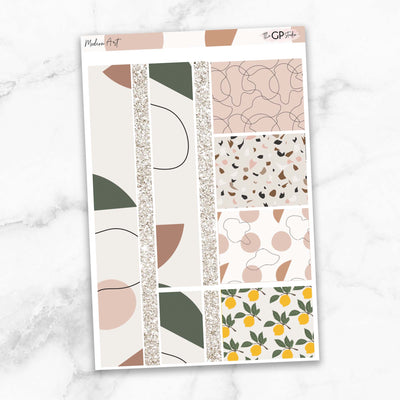 MODERN ART Washi Sheet Stickers-The GP Studio