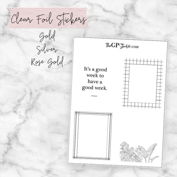 Modern Clear Foil Overlay Full Boxes-The GP Studio