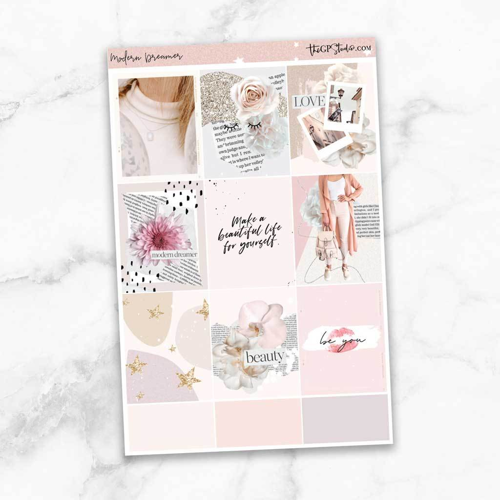 MODERN DREAMER Full Boxes Planner Stickers-The GP Studio