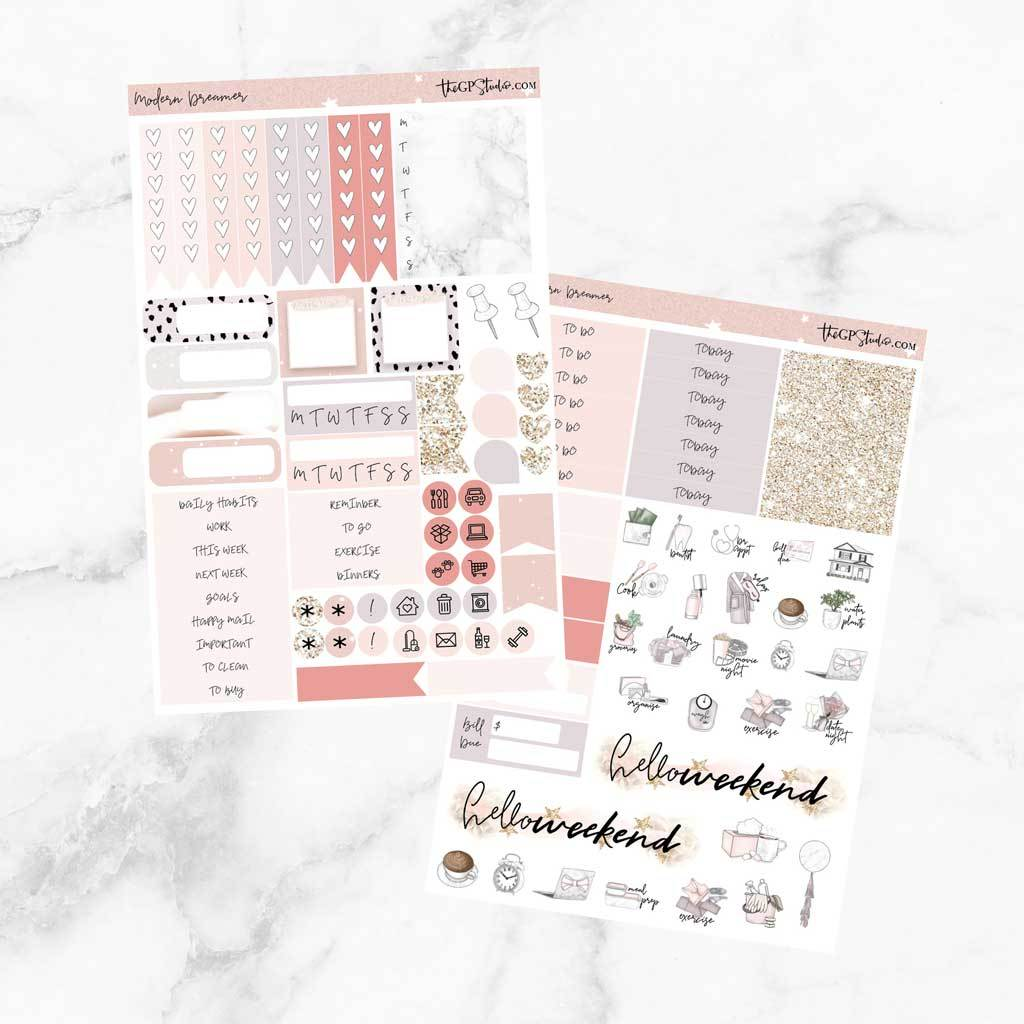 MODERN DREAMER Functional Planner Sticker Kit-The GP Studio