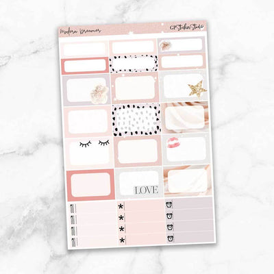MODERN DREAMER Half Boxes Planner Stickers-The GP Studio