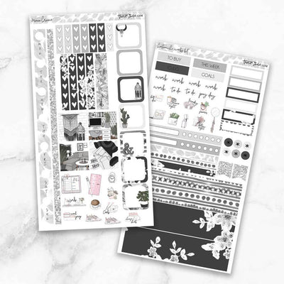 MONOCHROME Hobonichi Weekly Size Planner Sticker Kit-The GP Studio