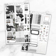 MONOCHROME Mini Size Planner Sticker Kit-The GP Studio