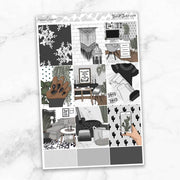MONOCHROME Planner Sticker Kit-The GP Studio