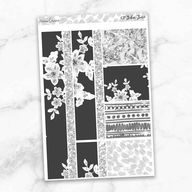 MONOCHROME Washi Sheet Stickers-The GP Studio