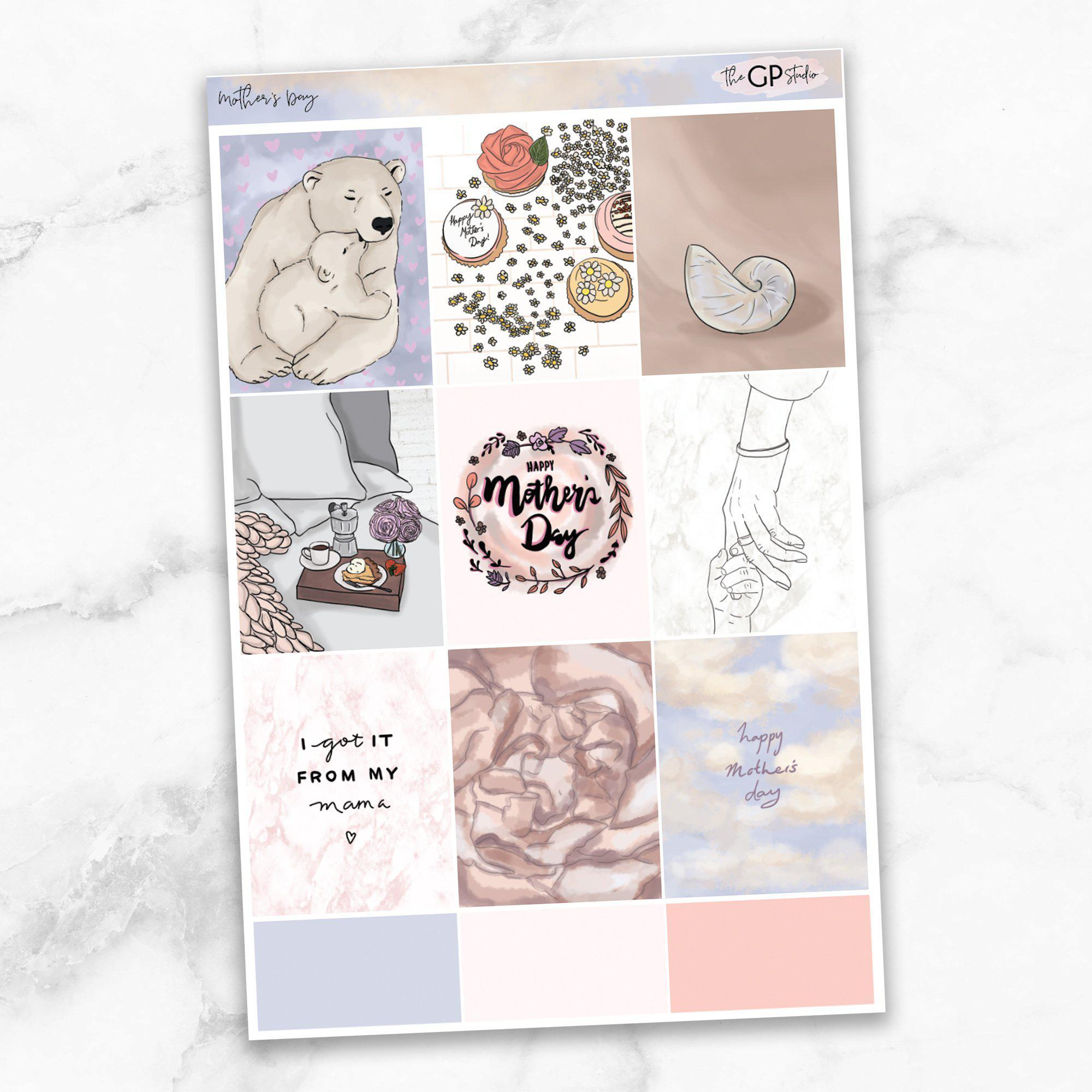 MOTHER'S DAY Full Boxes Planner Stickers-The GP Studio