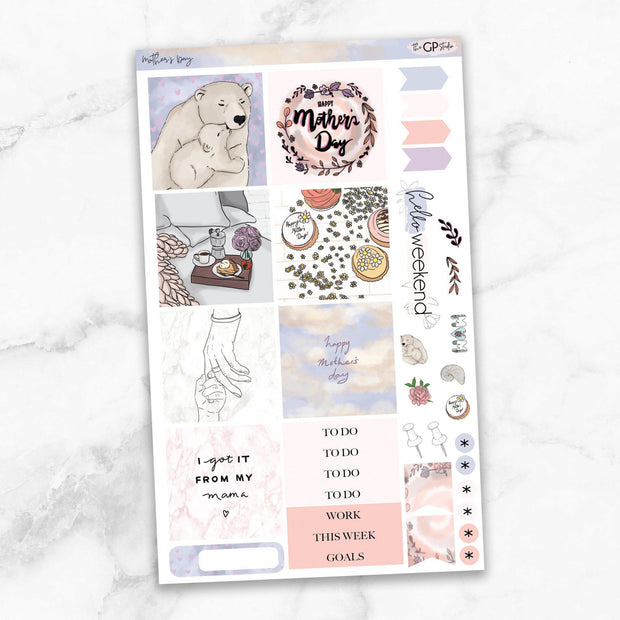 MOTHER'S DAY Mini Size Planner Sticker Kit-The GP Studio