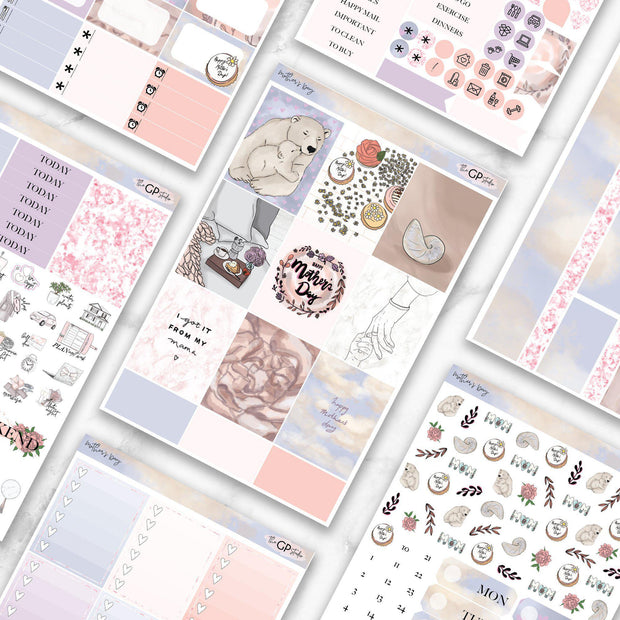 MOTHER'S DAY Planner Sticker Kit-The GP Studio