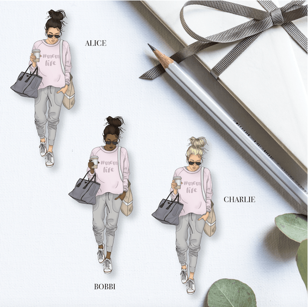 MUM/MOM LIFE GP Girl DIE CUT - Available in 3 skintones/hair colours-The GP Studio