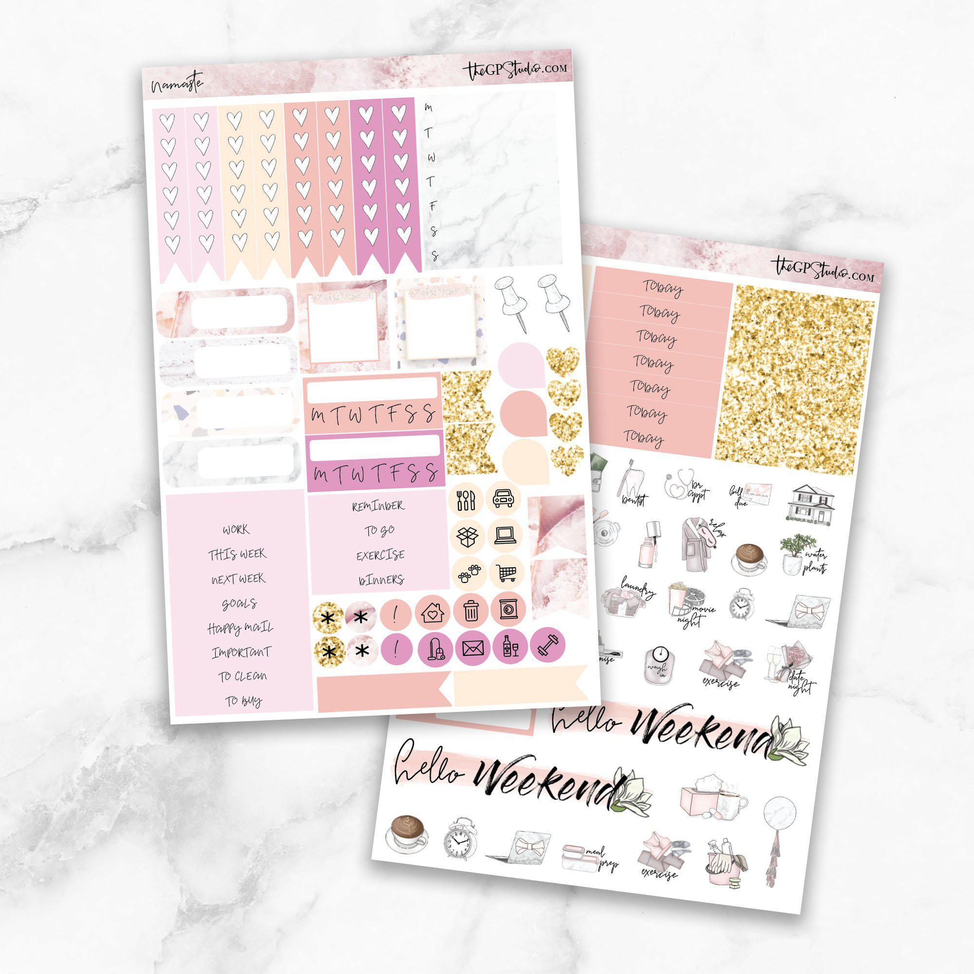 NAMASTE Functional Planner Sticker Kit-The GP Studio