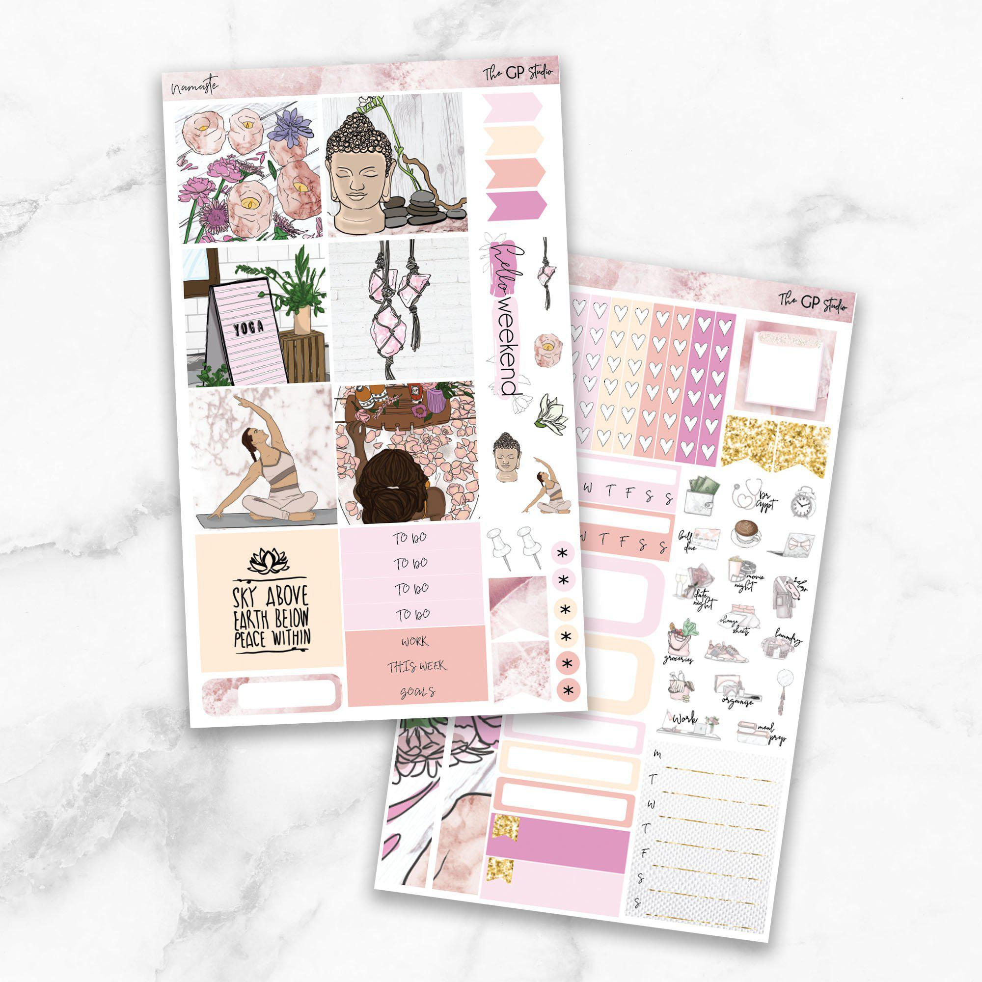 NAMASTE Mini Size Planner Sticker Kit-The GP Studio