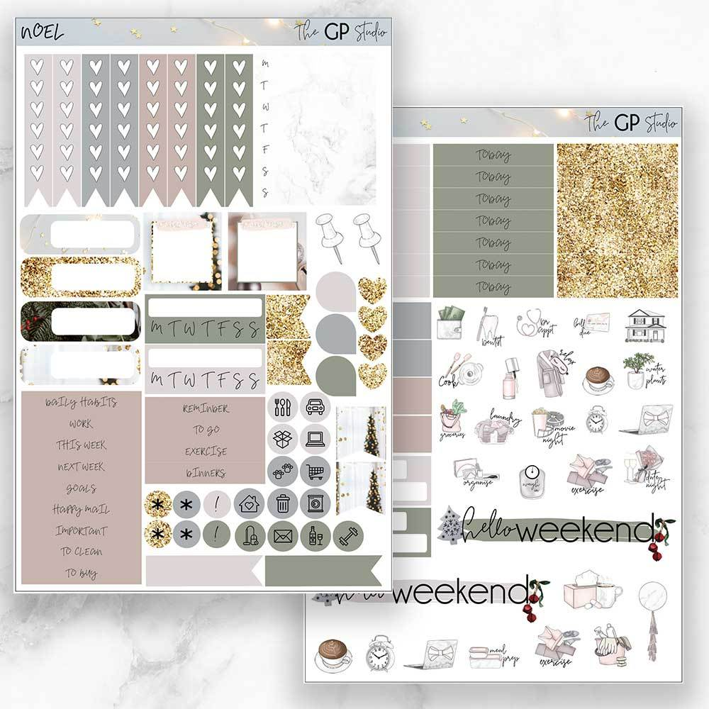 NOEL Functional Planner Sticker Kit-The GP Studio