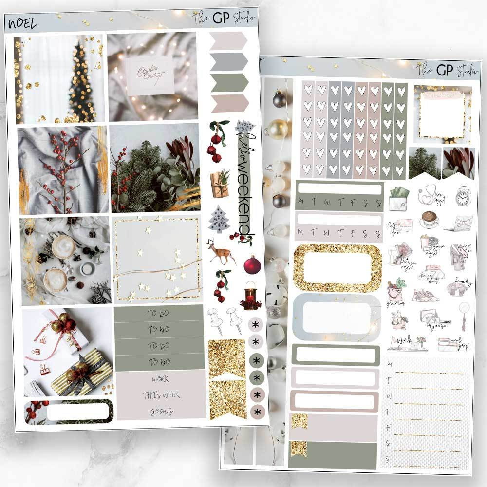 NOEL Mini Size Planner Sticker Kit-The GP Studio
