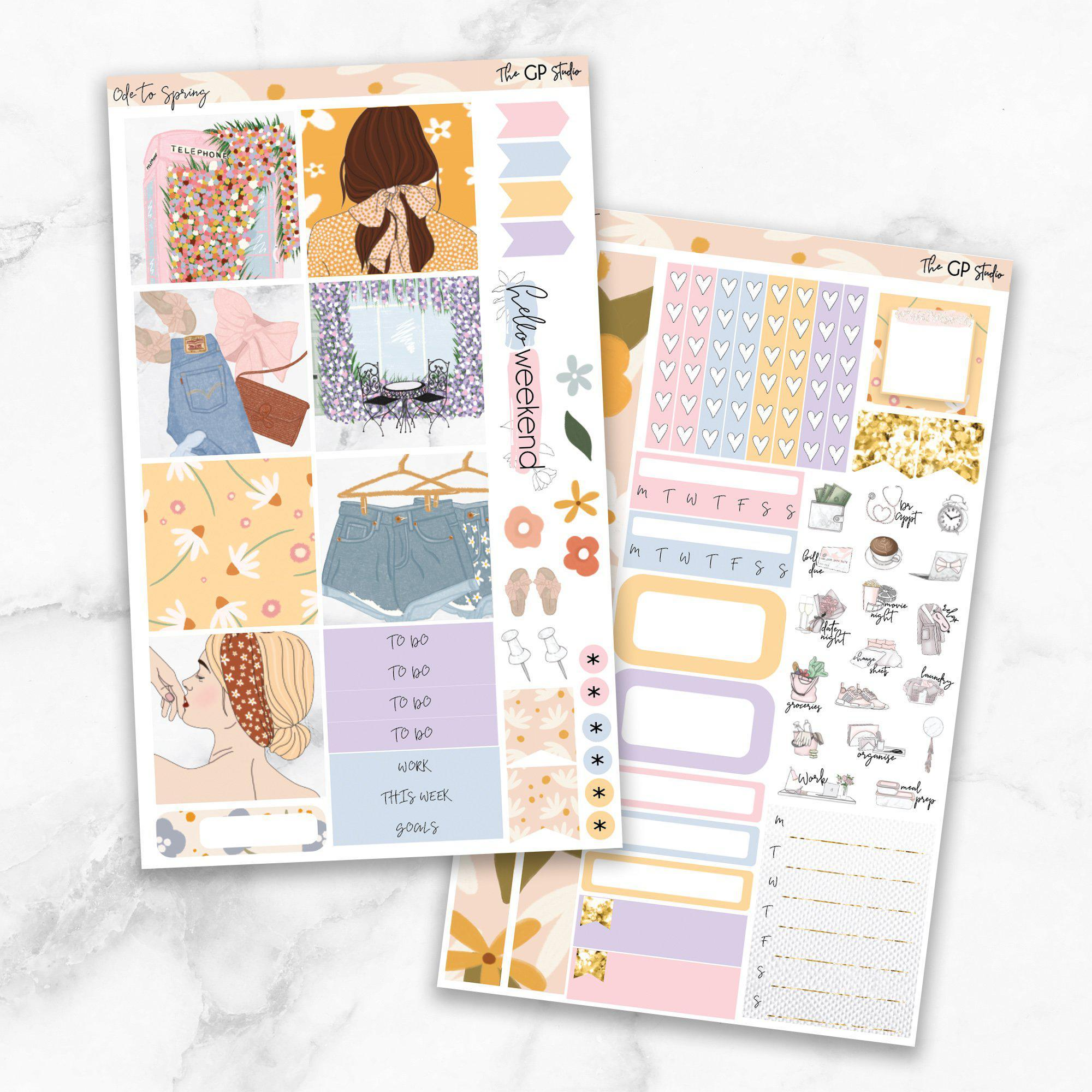 ODE TO SPRING Mini Size Planner Sticker Kit-The GP Studio