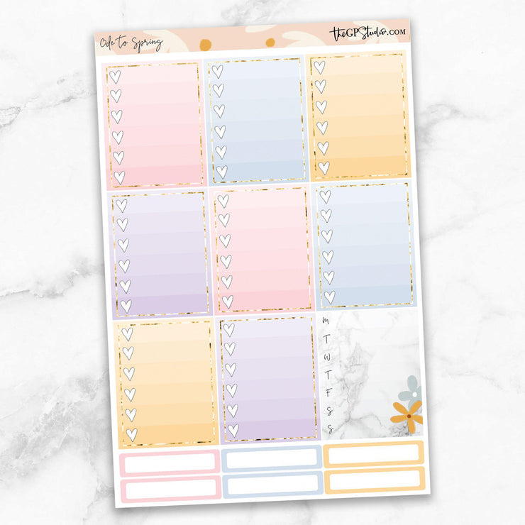 ODE TO SPRING Planner Sticker Kit-The GP Studio