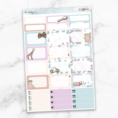 OH BABY Half Boxes Planner Stickers-The GP Studio