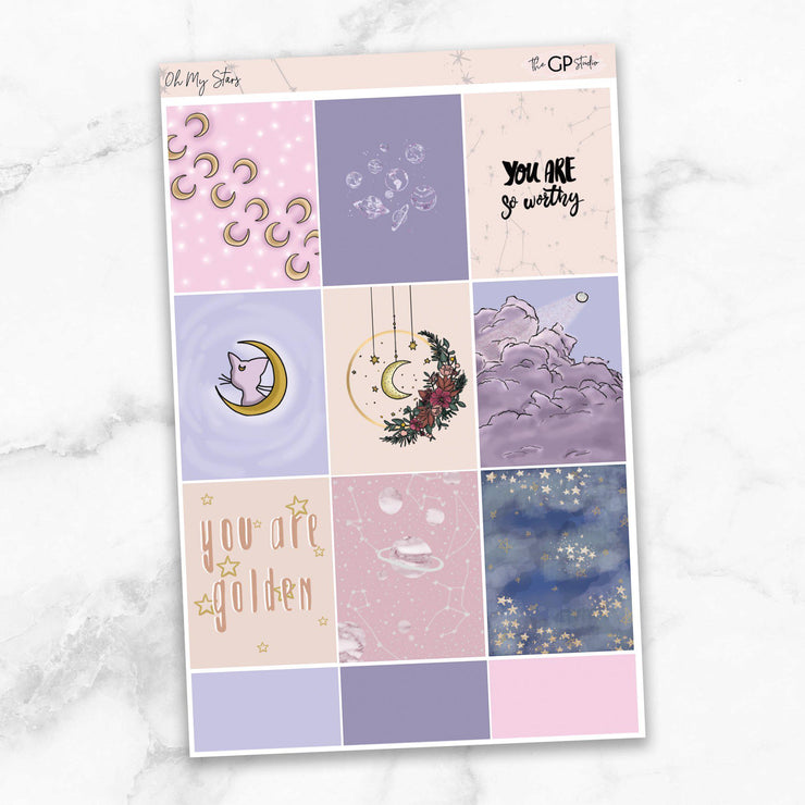 OH MY STARS Full Boxes Planner Stickers-The GP Studio
