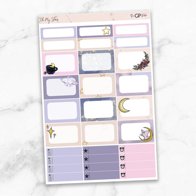 OH MY STARS Half Boxes Planner Stickers-The GP Studio