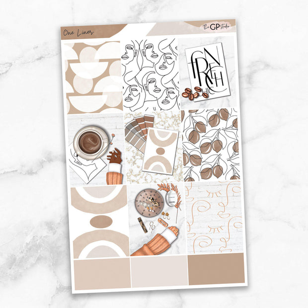 ONE LINER Full Boxes Planner Stickers-The GP Studio