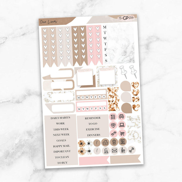 ONE LINER Functional Planner Sticker Kit-The GP Studio