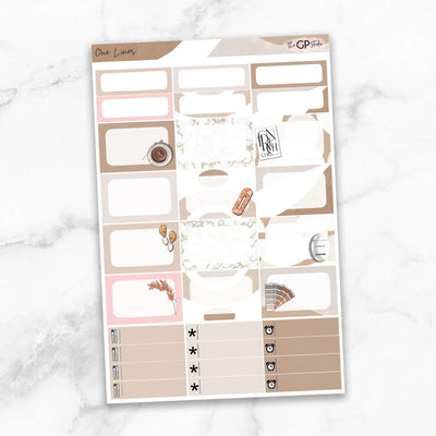 ONE LINER Half Boxes Planner Stickers-The GP Studio