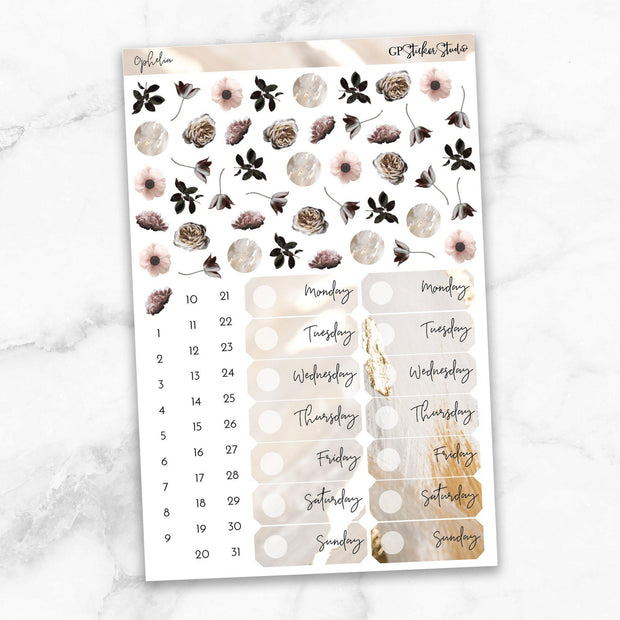 OPHELIA Deco & Date Cover Stickers-The GP Studio