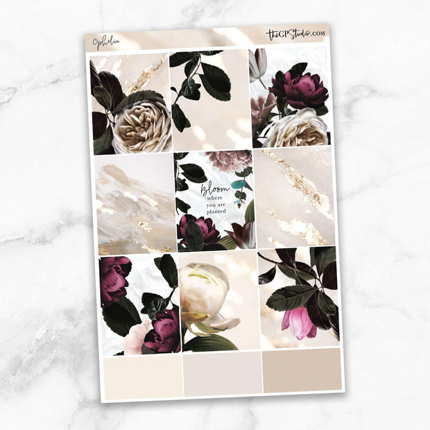 OPHELIA Full Boxes Planner Stickers-The GP Studio