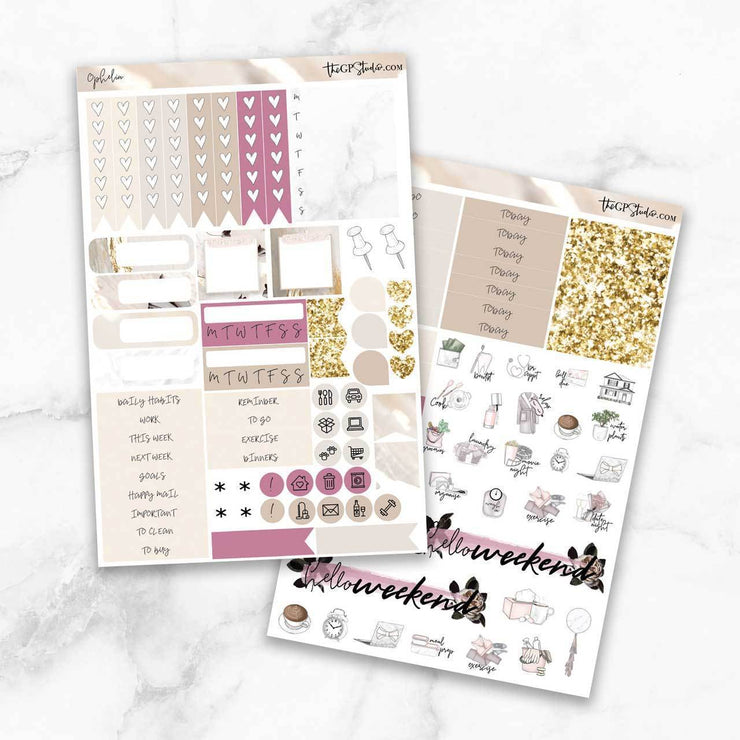 OPHELIA Functional Planner Sticker Kit-The GP Studio