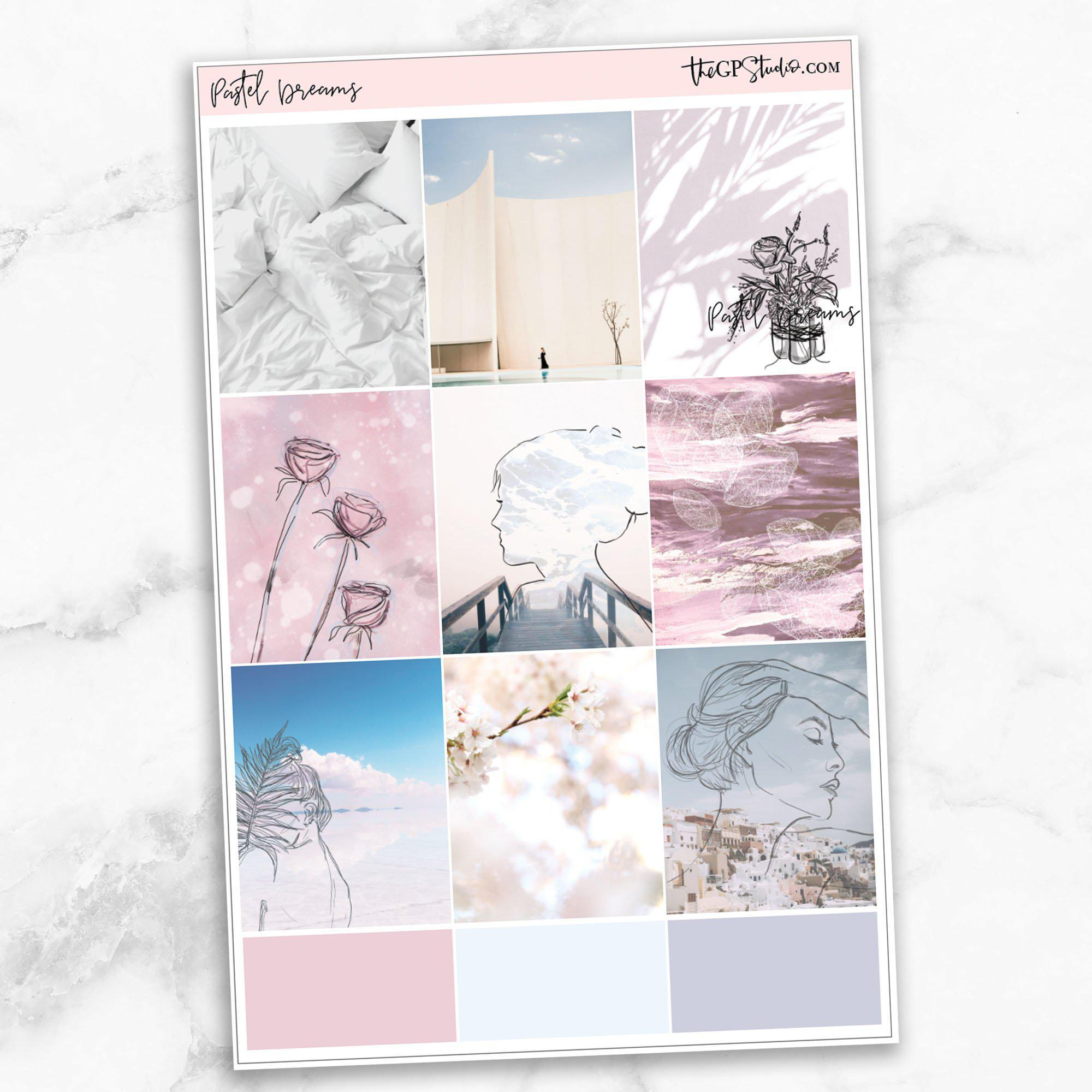 PASTEL DREAMS Full Boxes Planner Stickers-The GP Studio