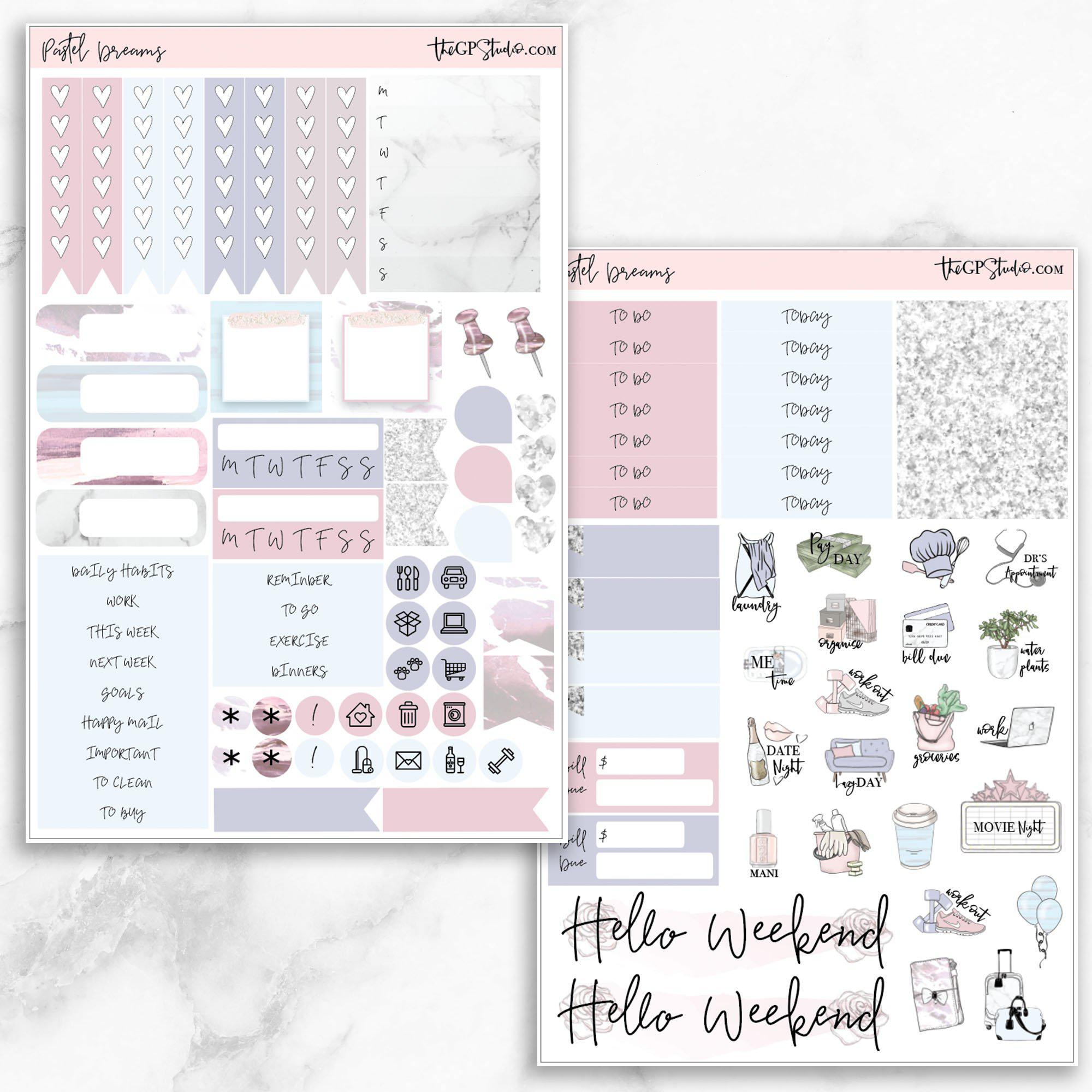 PASTEL DREAMS Functional Planner Sticker Kit-The GP Studio