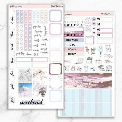 PASTEL DREAMS Hobonichi Weekly Size Planner Sticker Kit-The GP Studio