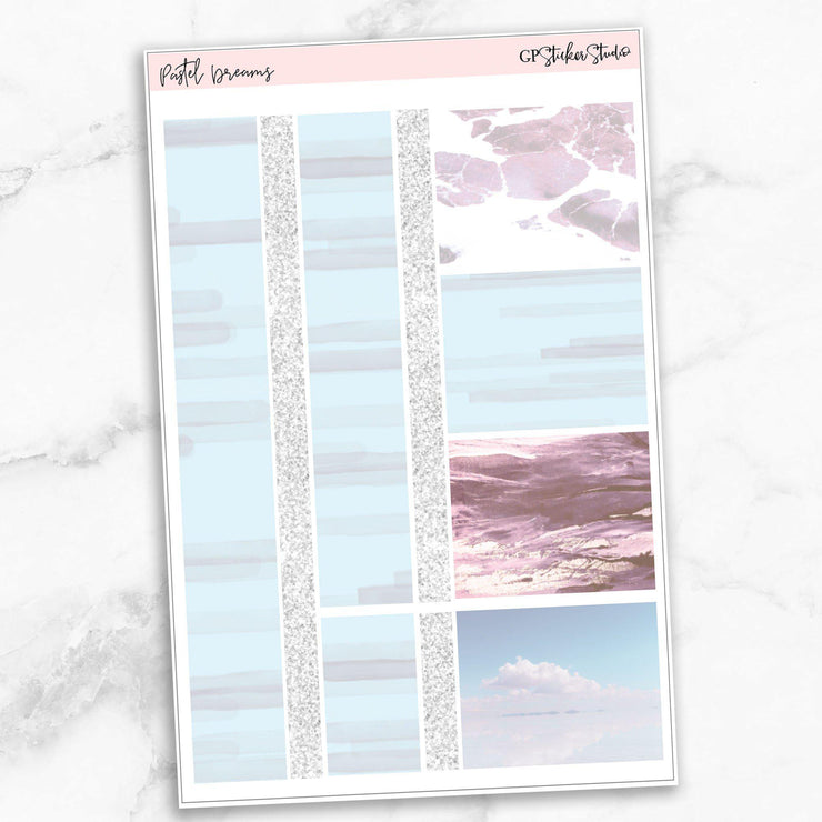 PASTEL DREAMS Washi Sheet Stickers-The GP Studio