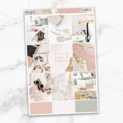 PEACEFUL Full Boxes Planner Stickers-The GP Studio