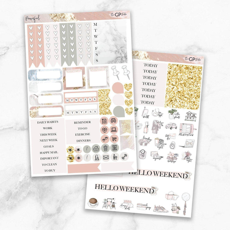 PEACEFUL Planner Sticker Kit-The GP Studio