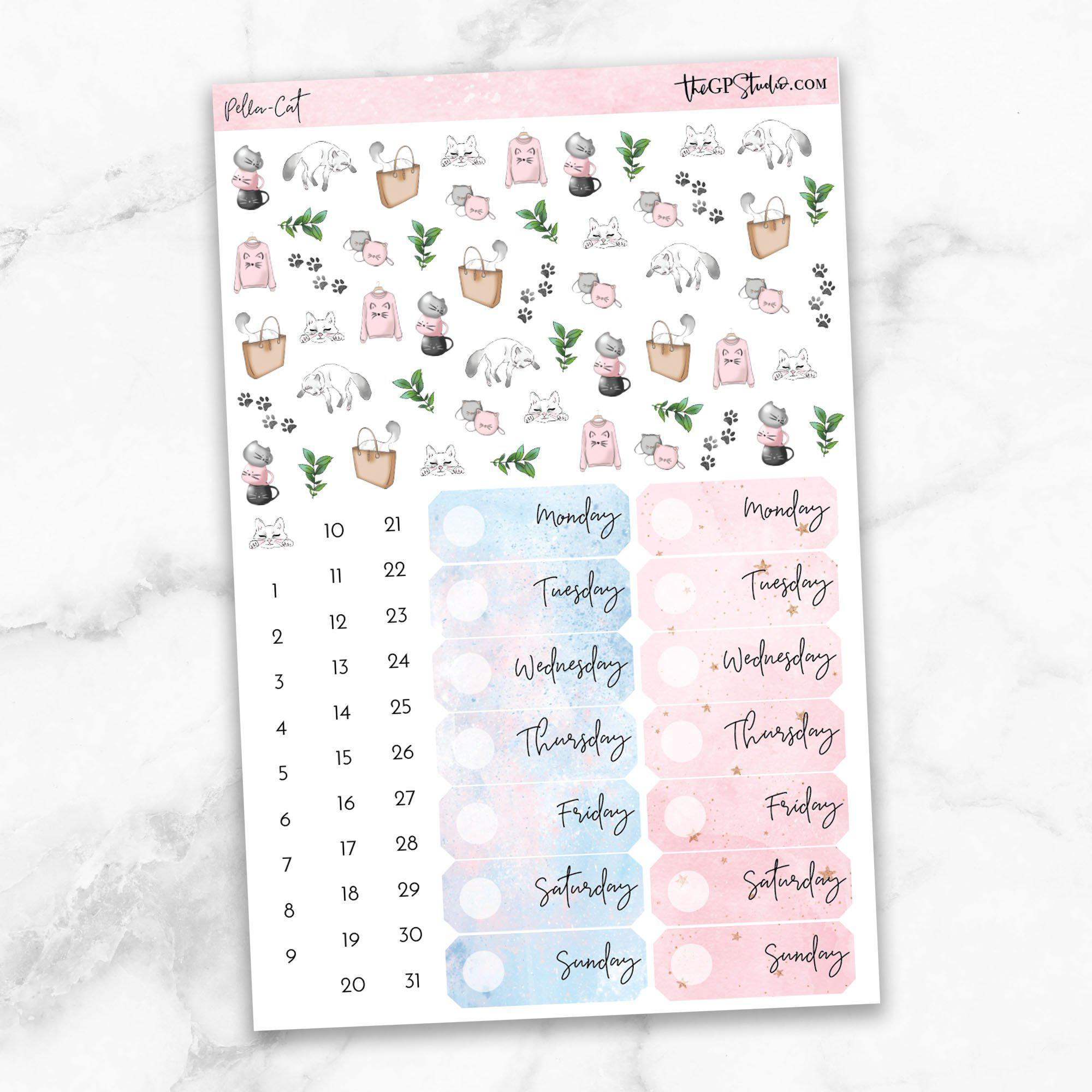 PELLA CAT KIT Deco & Date Cover Stickers-The GP Studio