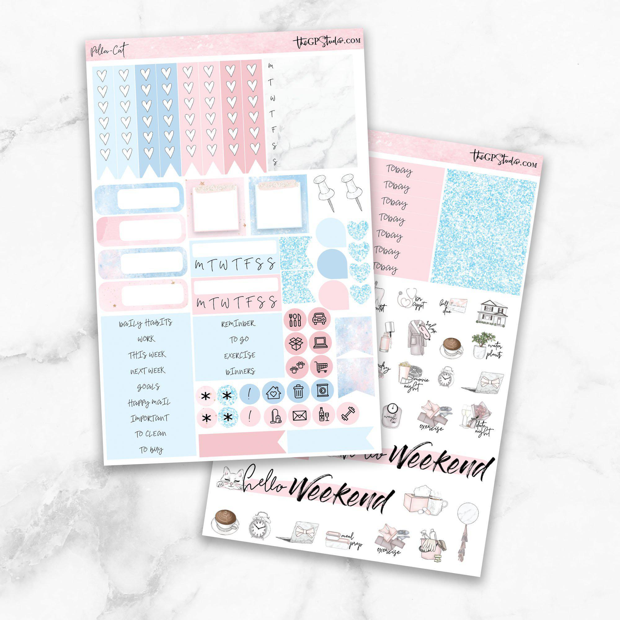 PELLA CAT KIT Functional Planner Sticker Kit-The GP Studio