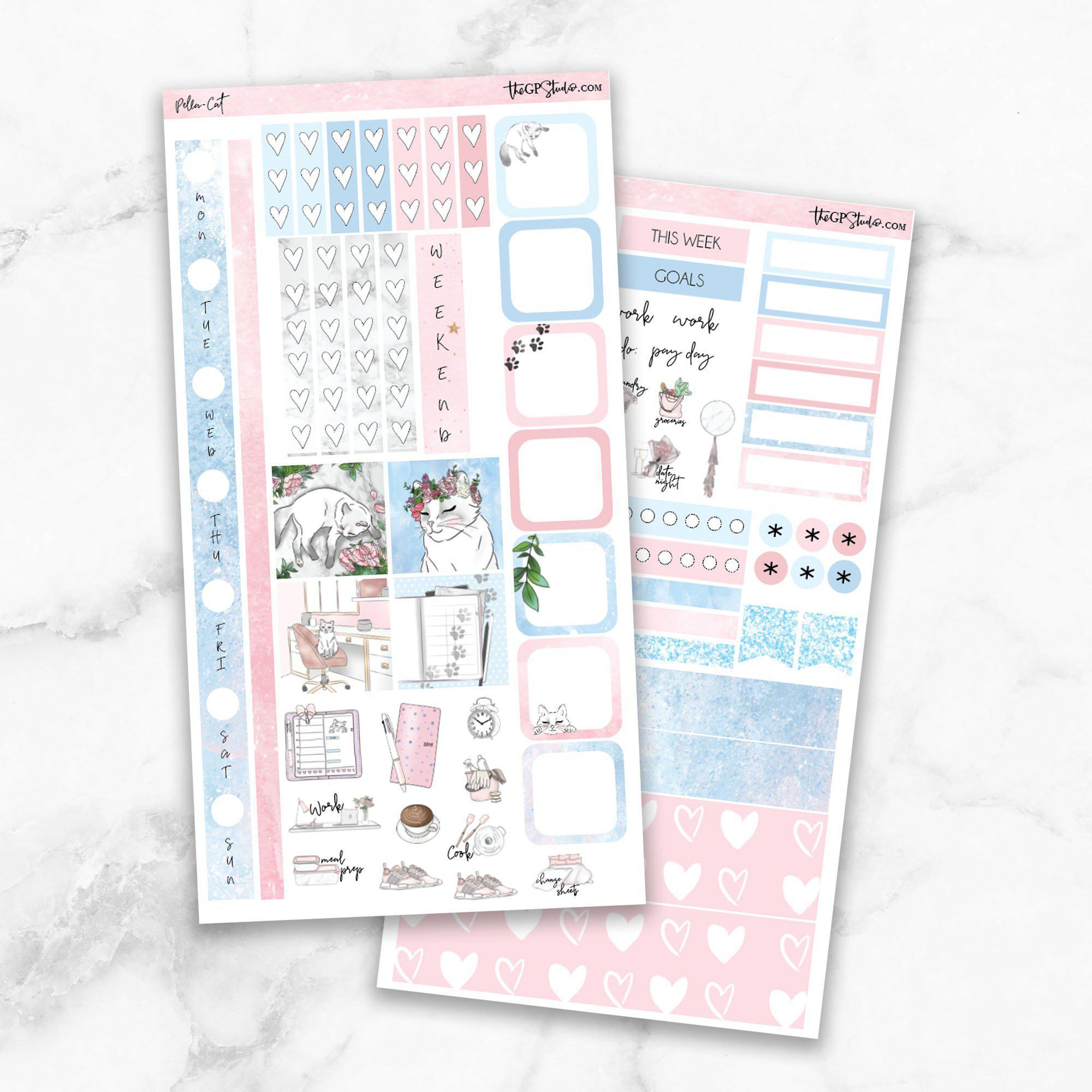 PELLA CAT KIT Hobonichi Weekly Size Planner Sticker Kit-The GP Studio