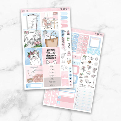 PELLA CAT KIT Mini Size Planner Sticker Kit-The GP Studio