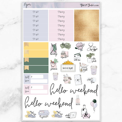 PIPER Functional Planner Sticker Kit-The GP Studio