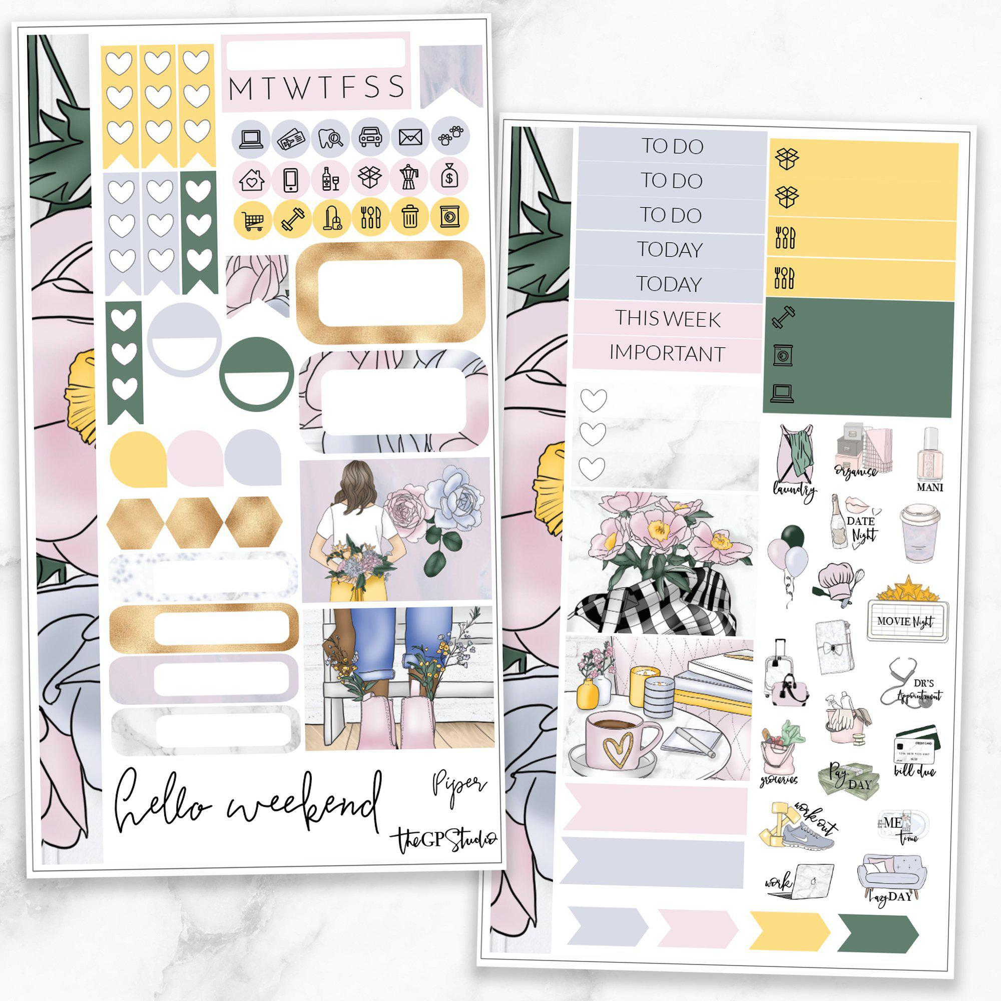 PIPER Personal Size Planner Sticker Kit-The GP Studio