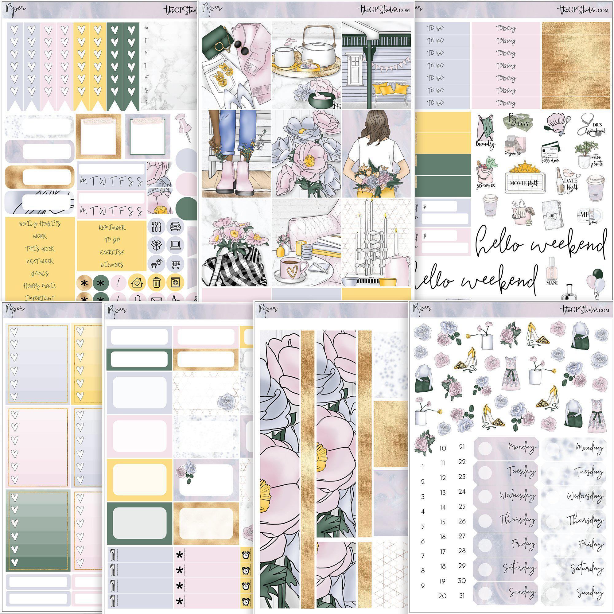 PIPER Planner Sticker Kit-The GP Studio